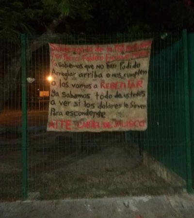 Aparece presunta narcomanta con advertencia a subdelegada de PGR en Cancún