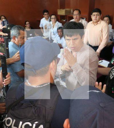 SE CALIENTA EL CONTEO DE VOTOS EN SOLIDARIDAD: Representantes de Morena y PES se agreden en plena sesión del Consejo del Ieqroo y la policía los saca