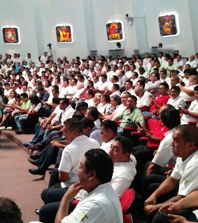 AL PLENO, LA POLÉMICA REFORMA A LA LEY DE MOVILIDAD: Vigilan taxistas sesión en el Congreso de Quintana Roo