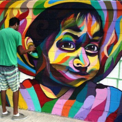 Comunidad artística reclama por mural borrado en el Instituto de la Cultura y las Artes en Playa del Carmen; el Ayuntamiento afirma que el artista hará otro