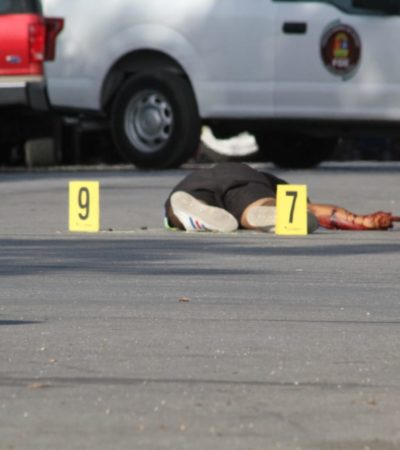 SIGUE LA OLA DE VIOLENCIA EN CANCÚN: Ejecutan a balazos a un joven en la Región 95