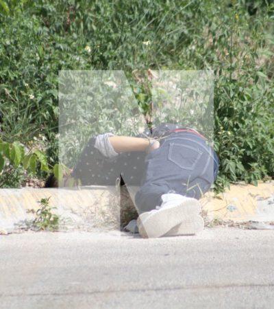 EJECUTADO EN LA REGIÓN 259: Matan a tiros a un joven sobre la Avenida 20 de Noviembre de Cancún