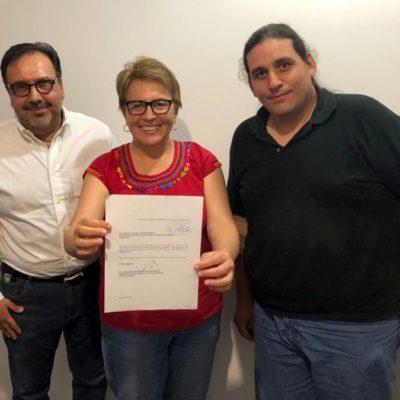 Solicita Laura Beristaín audiencia con Cristina Torres para iniciar proceso de entrega-recepción en Solidaridad