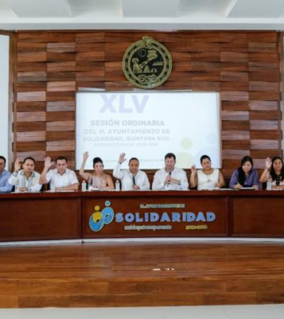 Cabildo de Solidaridad aprueba que el Teatro de la Ciudad sea sede para el Segundo Informe del gobierno municipal