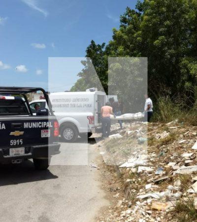 Sujeto fue ejecutado en un área de vegetación en la avenida Leona Vicario; suman dos muertos en Cancún este domingo