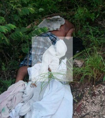 APARECE ENSABANADO EN 'EL MILAGRO': Encuentran cadáver en camino de terracería a tres kilómetros de la Portillo de Cancún