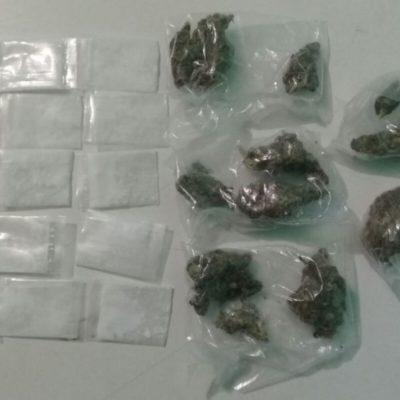 Aunque quiso huir, detienen a hombre con bolsa de mariguana y varias dosis de cocaína