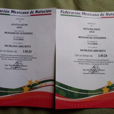 TRITONES Y SIRENAS: Quintana Roo se alza en Veracruz con oros en 400 metros relevo libre mixto y relevo 4×50 libres, oro y plata en 50 metros mariposa, y oro en 50 metros libres