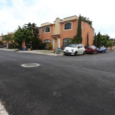 Vecinos de Supermanzana 500 en Cancún se benefician con la reconstrucción de la carpeta asfáltica de sus calles y avenidas