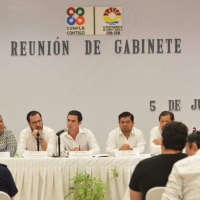 REUNIÓN DE GABINETE EN CANCÚN: Remberto Estrada ordena acciones para un cierre de gestión ordenado y transparente