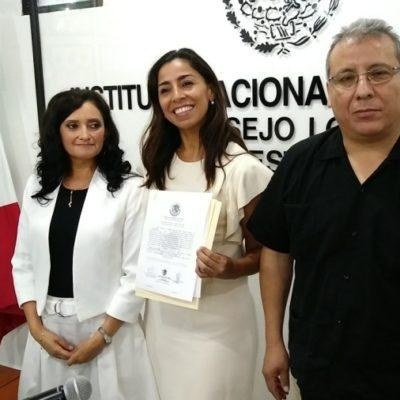 Marybel Villegas ya cuenta con su constancia de senadora electa
