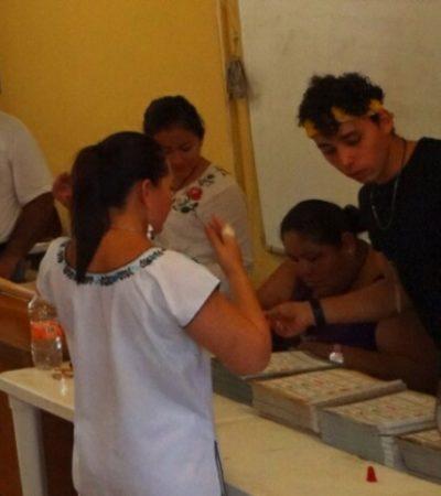 ASÍ PASA CUANDO SUCEDE: Y Perla Tun se equivoca de casilla… pero sí alcanza a votar en la correcta