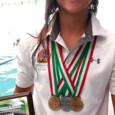 La playense Luna Cueva, tras cosechar oros en Veracruz, se convierte en la reina de la categoría 15-16 años por tener el mayor puntaje
