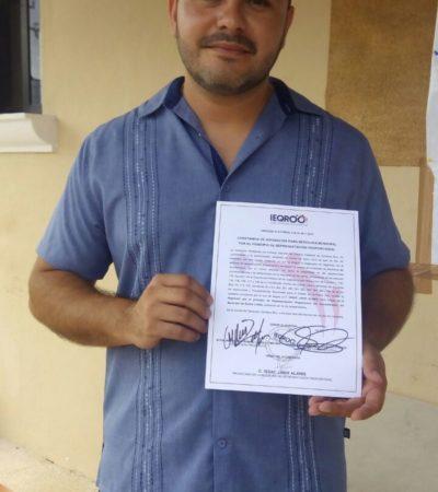 Entregan constancia de asignación de regiduría al independiente Issac Janix en Cancún