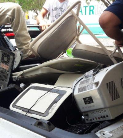 Le dicen adiós a la chatarra electrónica en José María Morelos