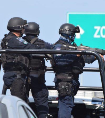 Siete divisiones con 843 policías federales resguardan la Zona Norte de Quintana Roo