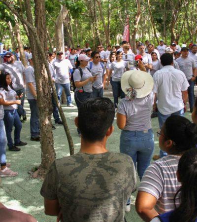 Parque Punta Corcho, pulmón verde de Puerto Morelos, es embellecido por voluntarios