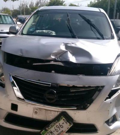 ESCUDO TITÁN: 'Chilango' roba coche, huye perseguido por fuerzas federales y termina atrapado en la Región 86 de Cancún