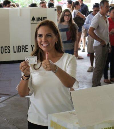 """""""HAN INVENTADO TANTAS COSAS QUE YA ME DAN RISA"""": Tras votar, Mara Lezama lamenta 'guerra sucia' en contra de ella y niega viaje al Mundial de Rusia"""
