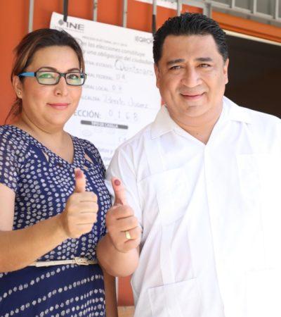 Votar es una herramienta de poder y decisión de la ciudadanía, dice líder del Congreso, tras sufragar en la colonia Jacinto Pat