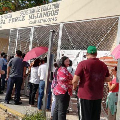 Reportan discusiones, agresiones menores y hasta un pleito familiar en casillas de Yucatán