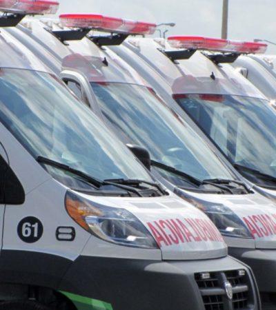 Habrá nuevos protocolos para ambulancias privadas que evitará las peleas por pacientes en Cancún