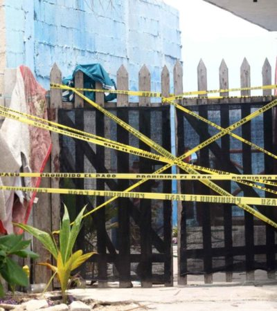 La FGE asegura 105 casquillos percutidos de diferentes calibres en el local donde se perpetró el ataque violento, en Puerto Juárez