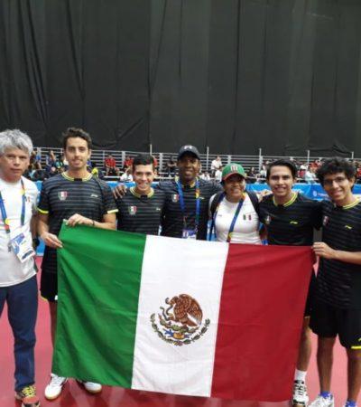 Quintana Roo colabora con dos preseas para México en los Juegos Centroamericanos y del Caribe; Carlos Sansores obtiene plata en taekwondo y Darío Arce obtiene bronce en tenis de mesa
