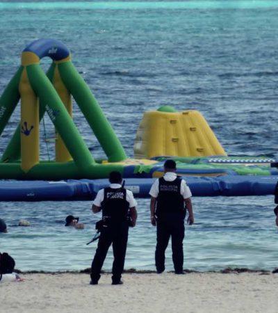 Se manifiestan contra el parque acuático 'Float Fun Cancún': activistas advierten a la PGR que retire los juegos o interpondrán nueva denuncia