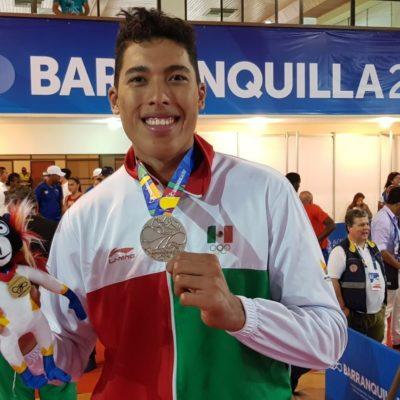 Se queda el quintanarroense Carlos Sansores con la plata en taekwondo durante los Juegos Centroamericanos y del Caribe