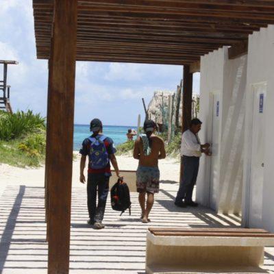 Playa 88 con Distintivo 'Blue Flag' en Solidaridad, fue vandalizada por falta de vigilancia policíaca; autoridades piden a ciudadanos hacer conciencia