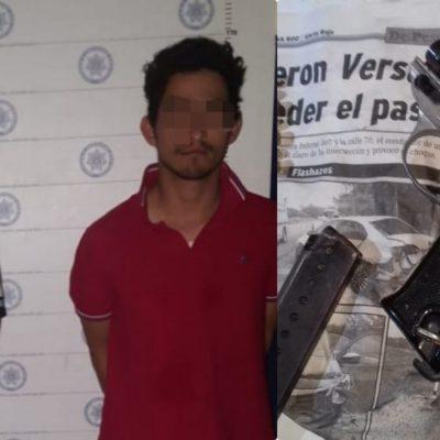SEGUIMIENTO | En medio de fuerte ola de violencia en Cancún, detienen policías a dos sospechosos armados en una motocicleta en la Región 251