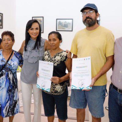 Ratifica Alcaldesa apoyo al sector de los artesanos de Puerto Morelos