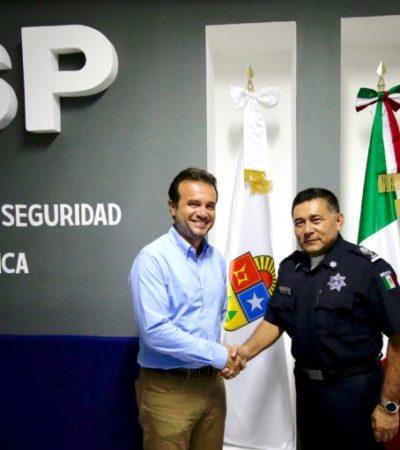Se reúne Pedro Joaquín con titularde Seguridad Pública de Quintana Roo