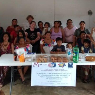 Promueve Ayuntamiento de Puerto Morelos la equidad de género en la comunidad de Delirios
