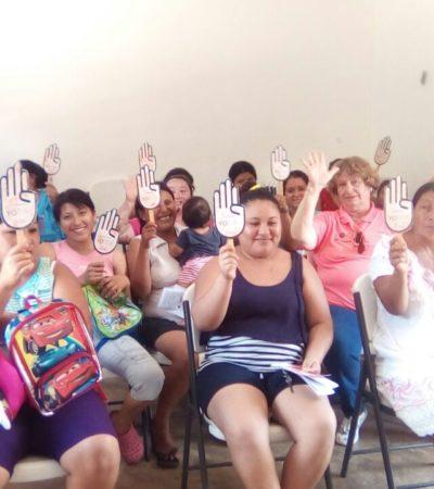 Mantiene gobierno de Puerto Morelos activa campaña para erradicar la violencia de género