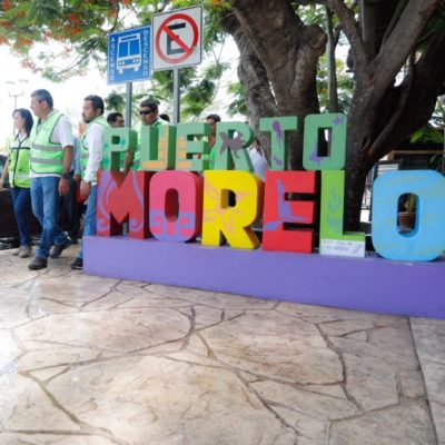 Supervisa Alcaldesa avance de obras en el casco antiguo de Puerto Morelos