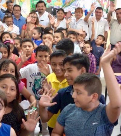 """Termina curso de verano """"La letra de pie construyendo valores"""" en Puerto Morelos"""