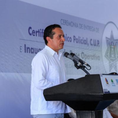 Cancún recibirá a más de 3 mil elementos que conformen la nueva Base de Policía Militar, anuncia Carlos Joaquín