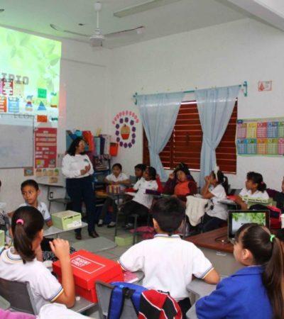"""Reiniciarán el programa """"Municipio en tu escuela"""" en este regreso a clases en Puerto Morelos; dependencias brindarán atención a más de 4 mil estudiantes"""