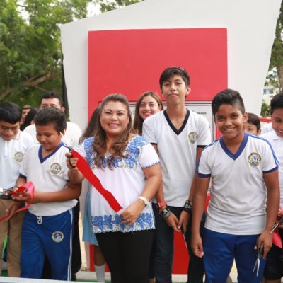Inaugura Alcaldesa 'Parque Cuchil Baxal' en Tulum