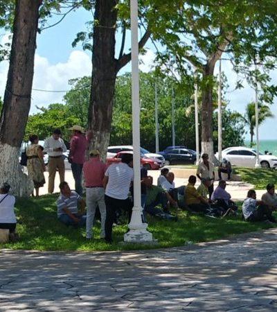 Ejidatarios de Juan Sarabia se manifiestan en rechazo de Manuel Manzo Mendez en la Secretaría de Agricultura