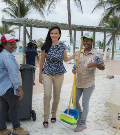 Ayuntamiento de Puerto Morelos refuerza el servicio de recolección de basura, a fin de mantener un destino turístico limpio