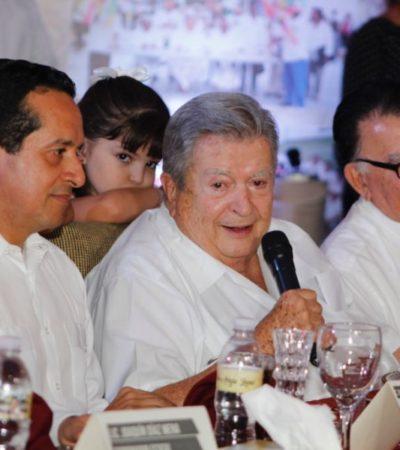 GASTÓN ALEGRE, ENTRE CARLOS Y EL COORDINADOR DE AMLO: Celebra el empresario su cumpleaños 85, rodeado de alcaldes electos y otros personajes de Morena