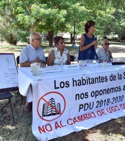 Vecinos de Sm 2A exigen cancelar el cambio de uso de suelo; llegarán hasta las últimas consecuencias para evitar el PDU, advierten