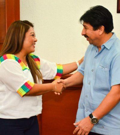 Se reúne la Alcaldesa Romi Dzul con Víctor Mas para dar inicio al proceso de traspaso de poderes en el Ayuntamiento de Tulum