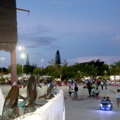 Se instalan 162 luminarias en la SM 22, incluyendo el Parque Las Palapas, así como 30 manzanas