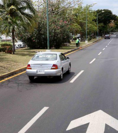 Invierten 4 mdp en la renovación de la carpeta asfáltica en la Avenida Palenque de Cancún
