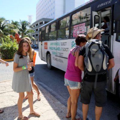 Acuerdan operativos conjuntos Ayuntamiento y Sintra para iniciar con el ordenamiento del transporte en Cancún