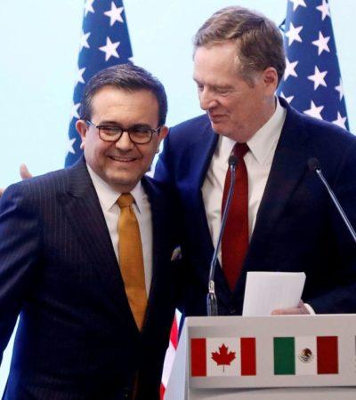 Alcanzan México y EU acuerdo en el TLCAN, pero aún falta que Trump negocie con Canadá